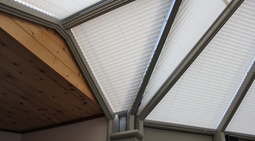 pleated conservatory shades
