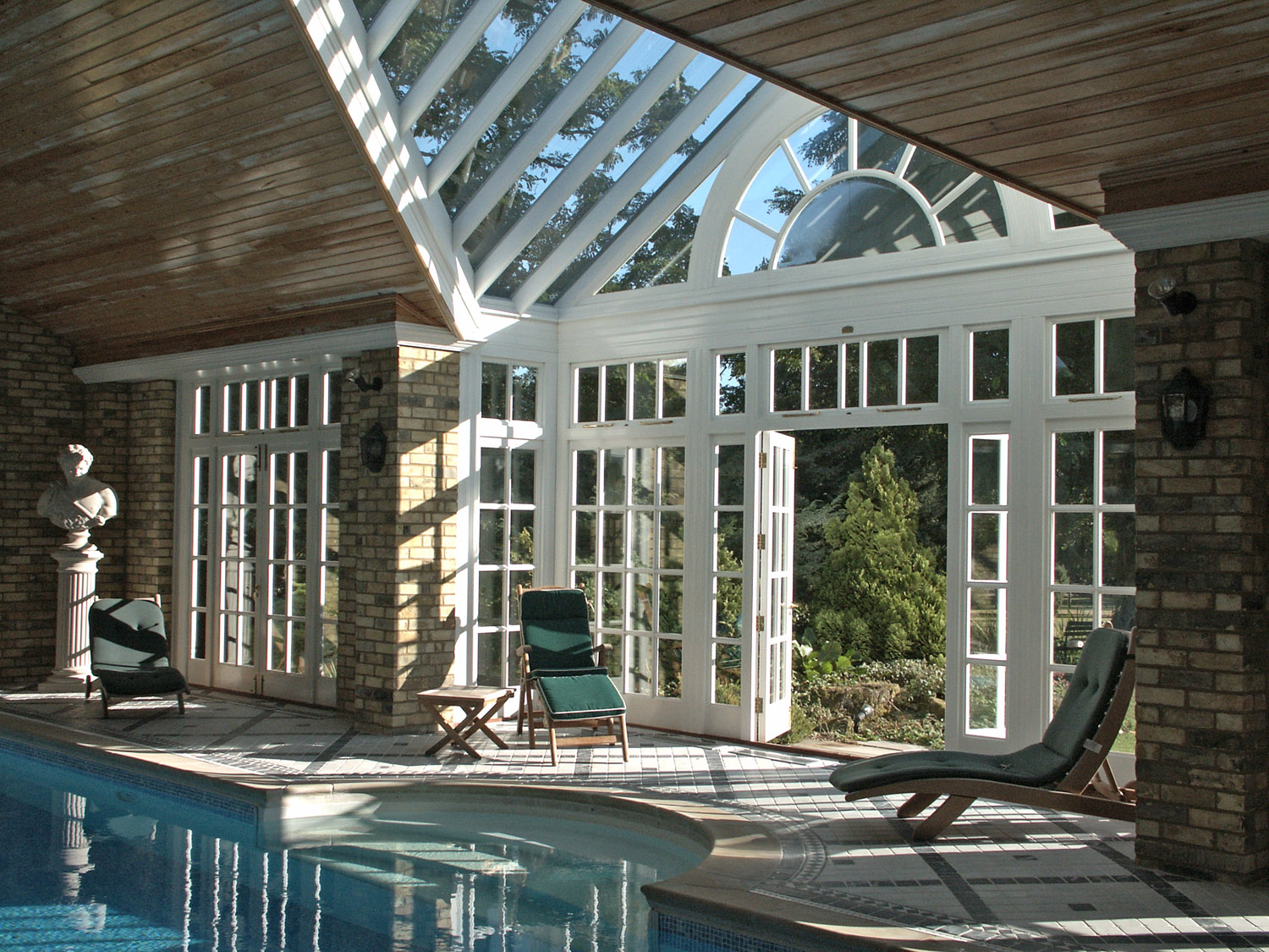 conservatory pool enclosure entrance