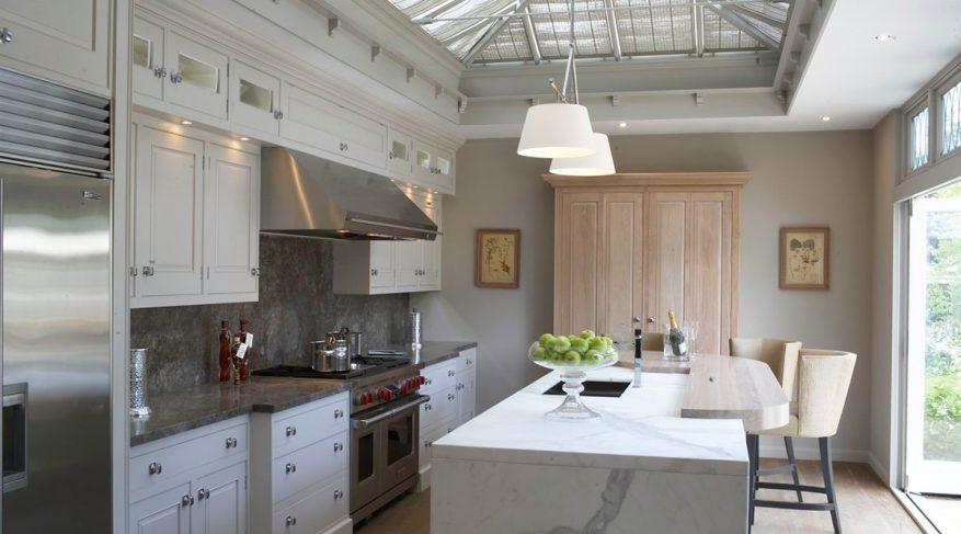 marble kitchen skylight