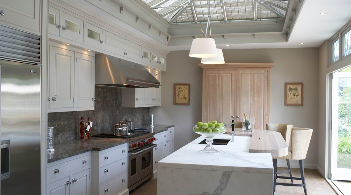 marble kitchen skylight