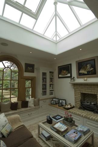 skylight fireplace