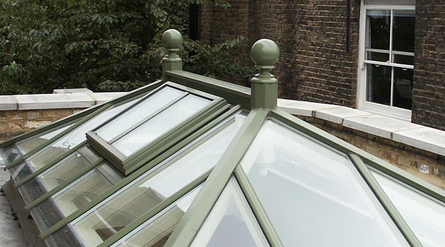 skylight with finial