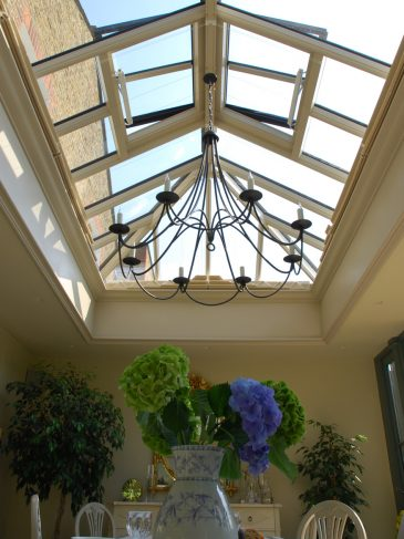 roof lantern with shades