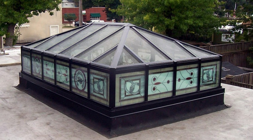 stained glass skylight exterior