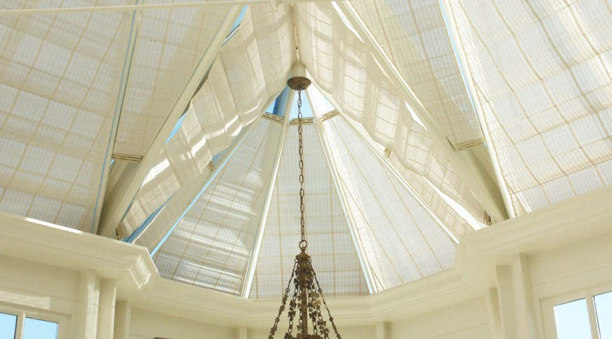 triangle conservatory shades