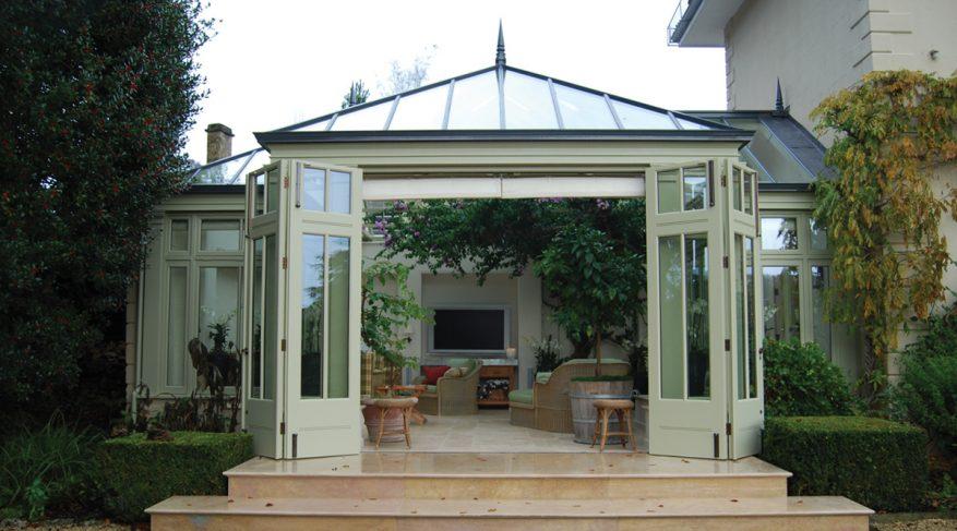 conservatory open doors
