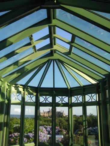 interior ocean-view conservatory