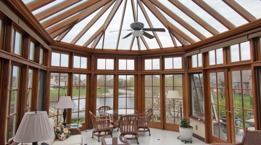 conservatory with natural interior